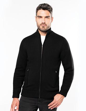 Fleece-lined cardigan
