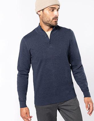 Premium button neck jumper