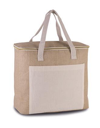 Jute cool bag - large size