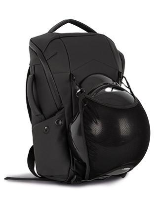 Waterproof anti-theft bag with helmet holder