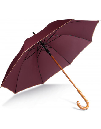 Auto open wooden umbrella