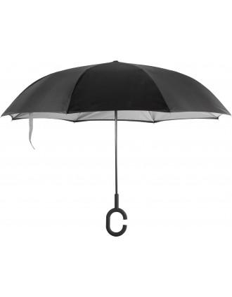 Hands-free reverse open umbrella