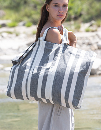 Recycled hold-all bag - Striped pattern