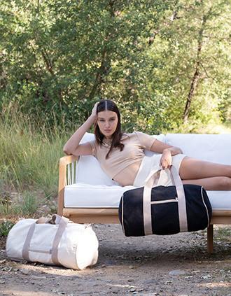 Recycled duffel bag