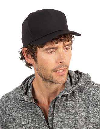 6 panels seamless cap with elasticated band