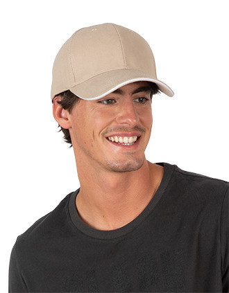 Cap in organic cotton with contrasting sandwich peak - 6 panels