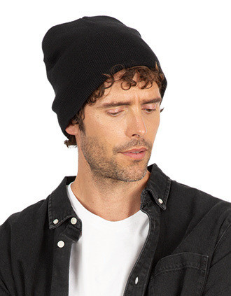 Knitted organic cotton beanie