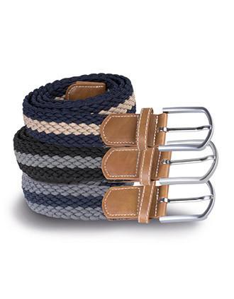 Braided elasticated belt