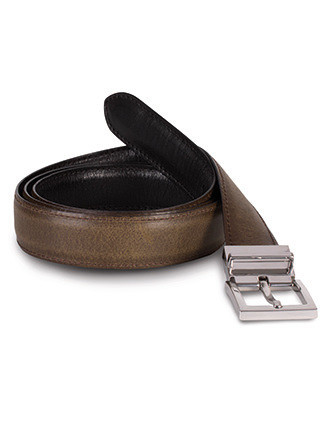 Reversible leather belt - 30 mm