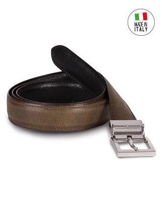 Reversible leather belt - 30mm