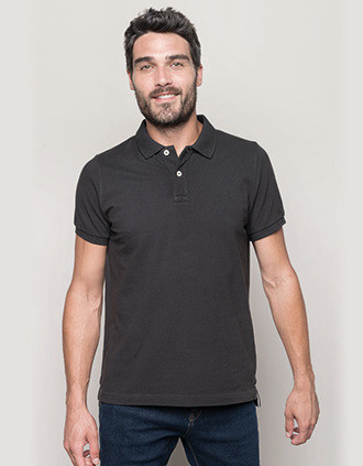 Men's vintage short sleeve polo shirt