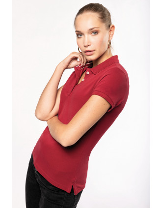 Ladies' vintage short sleeve polo shirt