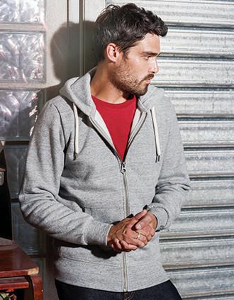 Men's vintage zipped hooded sweatshirt