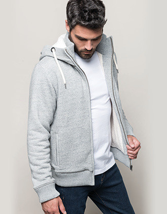 Vintage sherpa-lined fleece jacket
