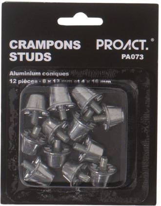 Pack of 12 conical aluminium studs