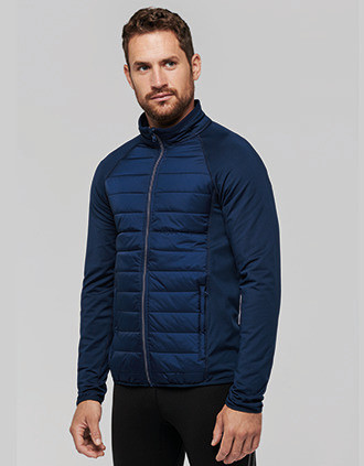 Dual-fabric sports jacket