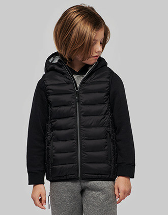 Kids' hooded bodywarmer