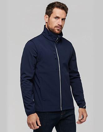 UNISEX detachable sleeves softshell jacket
