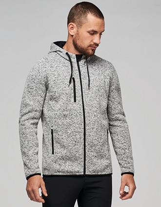 Men's heather hooded jacket