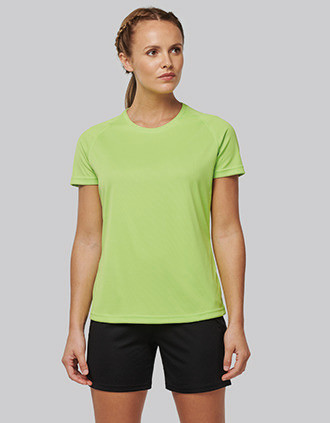 Ladies' recycled round neck sports T-shirt