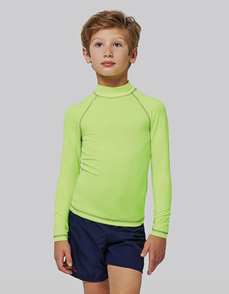 Children's long-sleeved technical T-shirt with UV protection