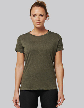 Ladies' Triblend round neck sports t-shirt