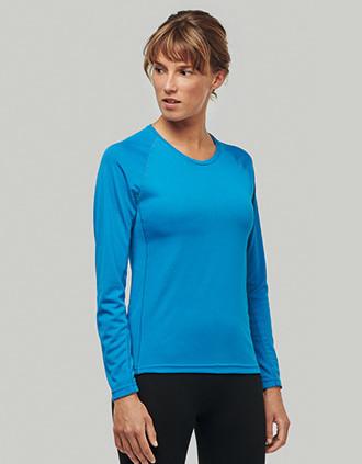 Ladies' long-sleeved sports T-shirt