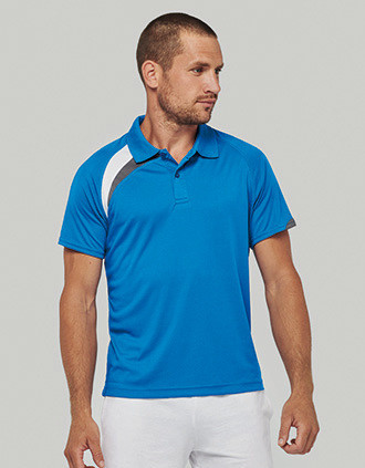 Adults' short-sleeved sports polo-shirt