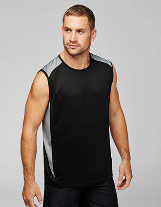 Two-tone sports vest