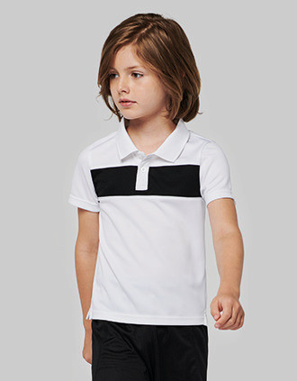Kids' short-sleeved polo-shirt