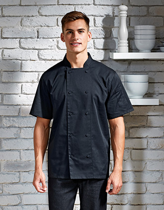 Coolchecker® short-sleeved chef's jacket