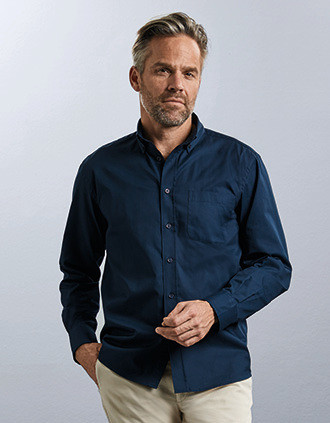 Men's Long-Sleeved Twill Shirt