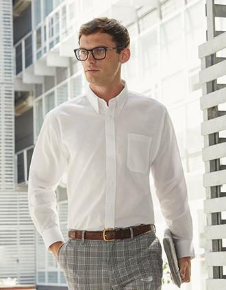 Men's Long-Sleeved Oxford Shirt (65-114-0)