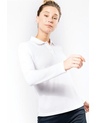 Ladies' long-sleeved polo shirt